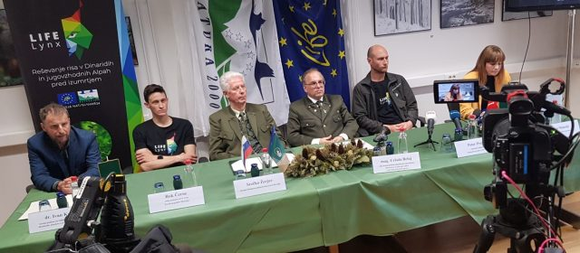 A press conference about the prevention of illegal killing of lynx and other wildlife