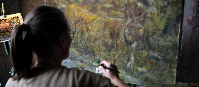 The artworks convey the story of the lynx