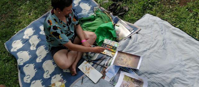 Slikarska delavnica na festivalu Plavajoči grad